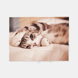 Napping Kitten Fleece Blanket