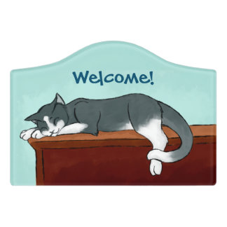 Napping Kitty Door Sign  sc 1 st  Zazzle & Kitty Door Signs | Zazzle pezcame.com