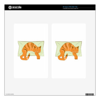 Napping Kitty Decals For Kindle Fire