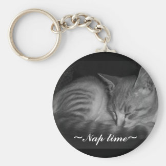Napping little cat, ~Nap time~ Keychain