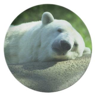 Napping Polar Bear Plate