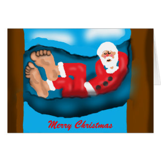 Napping Santa Card