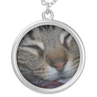 Napping Tabby Necklace