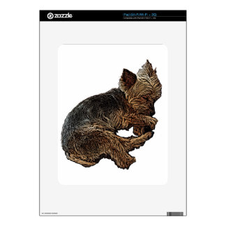 Napping Yorkie iPad Decals