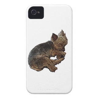Napping Yorkie iPhone 4 Cover