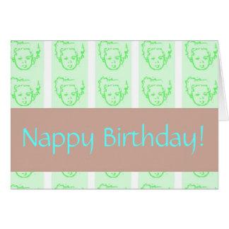 Nappy Birthday Greeting Card