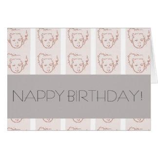 NAPPY BIRTHDAY! GREETING CARD
