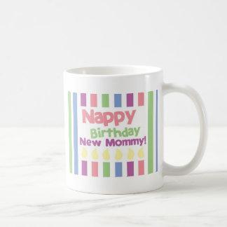 Nappy Birthday Dear mommy! Mugs