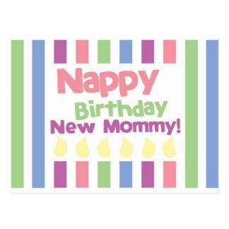 Nappy Birthday Dear mommy! Postcard