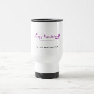 Nappy Dandelion Logo Sowing Seeds Travel Mug