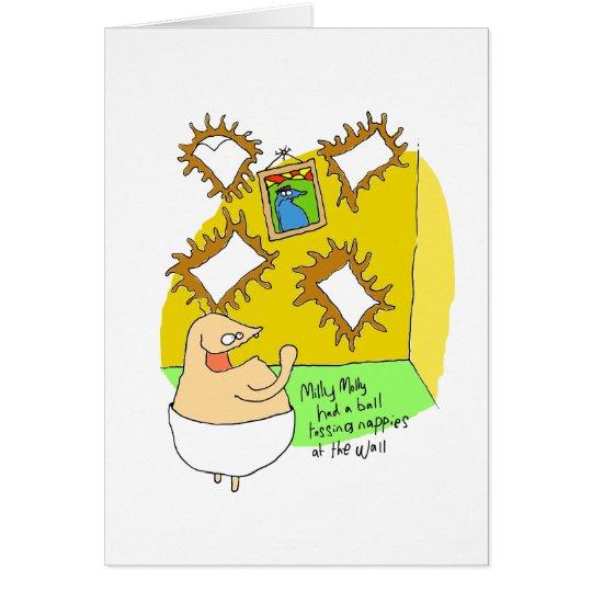 Nappy flinger card