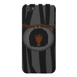 Nappy & Happy! With Beautiful Black Woman 2 iPhone SE/5/5s Cover