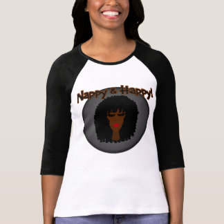 Nappy & Happy! With Beautiful Black Woman Tshirt