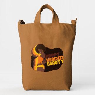 """Nappy Headed Beauty"" x BAGGU Duck Bag, Chestnut Duck Bag"