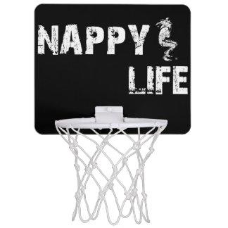 Nappy Life Mini Basketball Goal w/White Logo. Mini Basketball Backboard