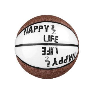 Nappy Life Mini Basketball w/Black Logo.