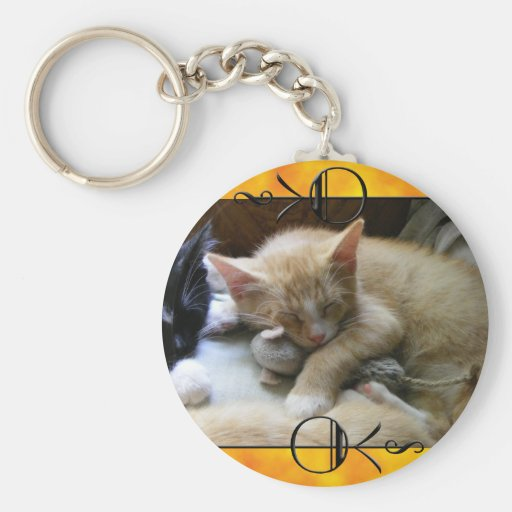 """Naptime"" Kittens Basic Round Button Keychain"