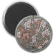 Nara Manhole Cover Magnets