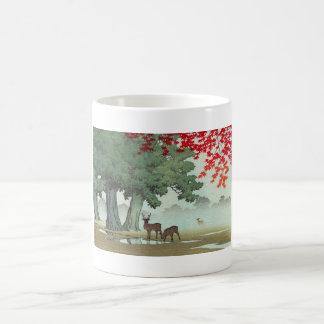 Nara Park Hasui Kawase shin hanga scenery art Classic White Coffee Mug