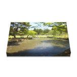 Nara Park Pond Stretched Canvas Prints