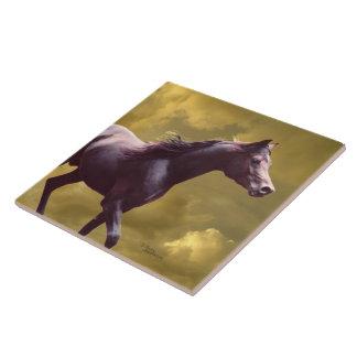 NArabian Stallion Stormy Sunset Tile
