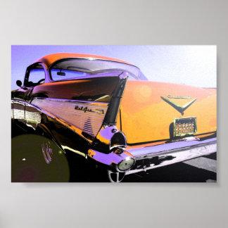 """Naranja 1957 de los """"días soleados """" de Chevy Posters"""