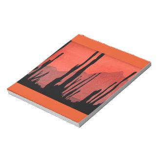 Naranja 2 de la libreta de la silueta del arte de bloc de notas