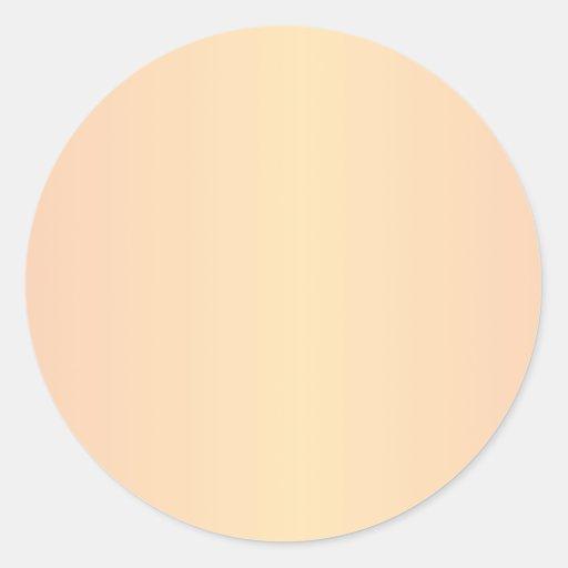 Naranja 2 - Pendiente del melocotón y del Pegatinas Redondas