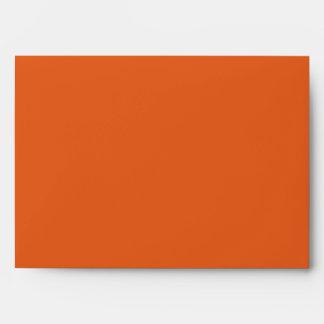 naranja 5x7 fuera del sobre interior del azul