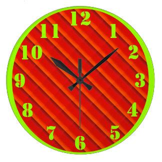 Naranja a la armadura de cesta roja reloj