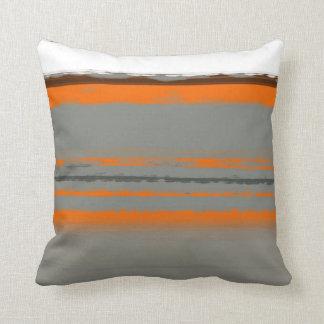 Naranja abstracto 2 cojín