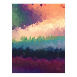 naranja abstracto del verde del paisaje del postales