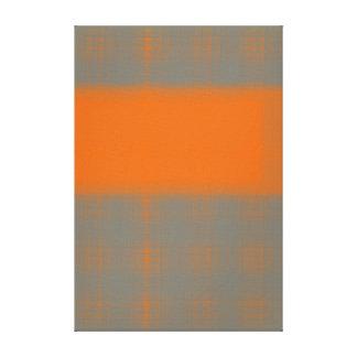 Naranja abstracto lona envuelta para galerias