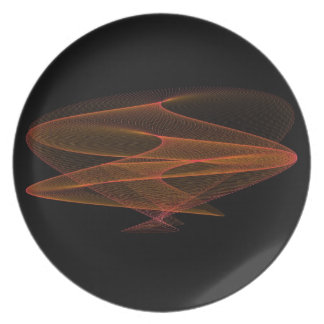 Naranja abstracto y negro platos de comidas