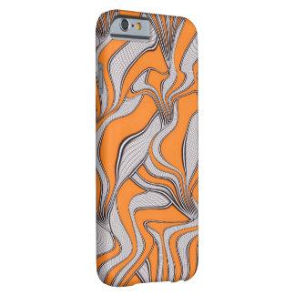 naranja absurdo del remolino de los movimientos funda de iPhone 6 barely there