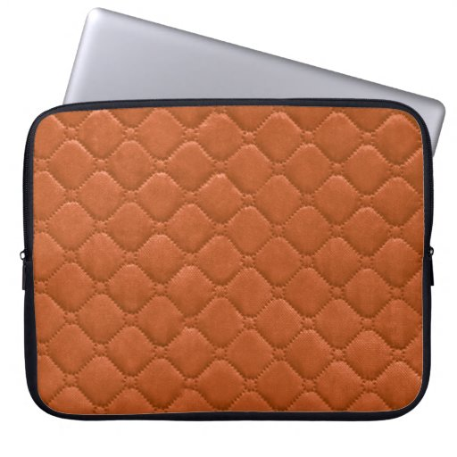 Naranja acolchado de la mirada mangas portátiles