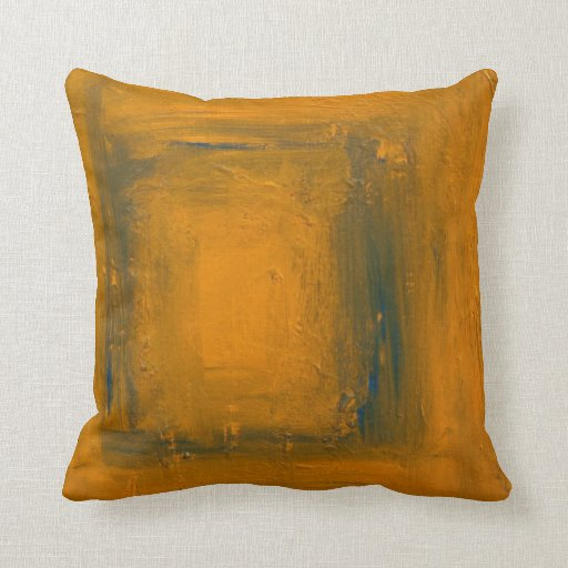 Naranja al azul y a la almohada de tiro trasera