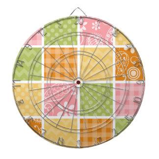 Naranja, amarillo, rosa, y mirada del remiendo del