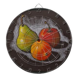Naranja Apple pera Arte en colores pastel del a Tabla Dardos