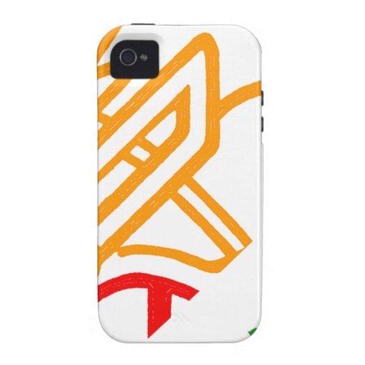 Naranja asombroso del fuego de Blazin iPhone 4/4S Carcasas
