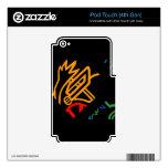 Naranja asombroso del fuego de Blazin Calcomanías Para iPod Touch 4G