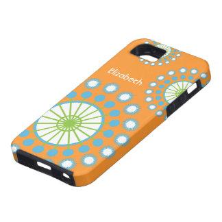 Naranja, azul, caja verde del ambiente del iPhone Funda Para iPhone SE/5/5s