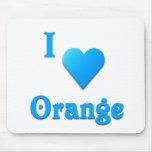 Naranja -- Azul de cielo Tapete De Ratón
