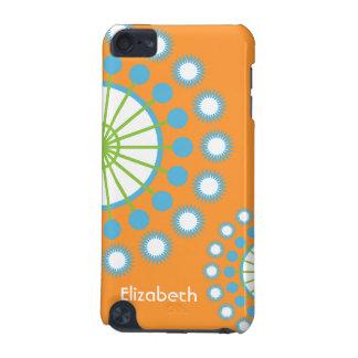 Naranja, azul, molinillo de viento verde carcasa para iPod touch 5