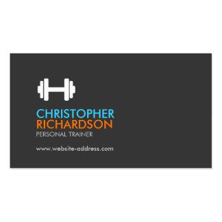 Naranja/azul personales del instructor de la tarjetas de visita
