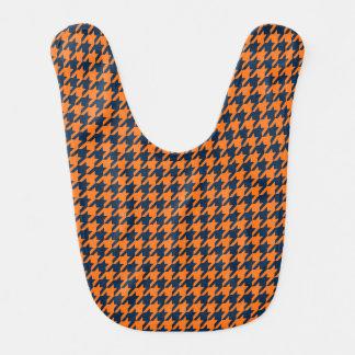 Naranja/azules marinos Houndstooth Baberos Para Bebé