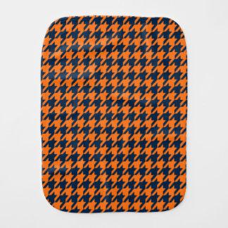 Naranja/azules marinos Houndstooth Paños Para Bebé