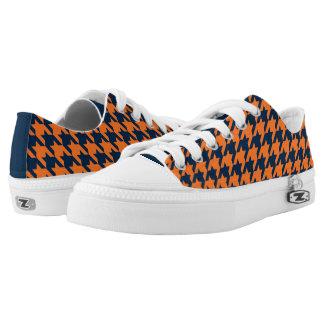 Naranja/azules marinos Houndstooth Zapatillas