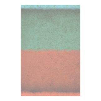 Naranja azulverde rojo de los campos de color del papeleria de diseño