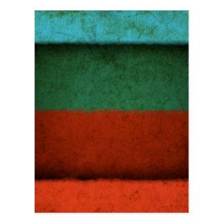 Naranja azulverde rojo de los campos de color del tarjeta postal